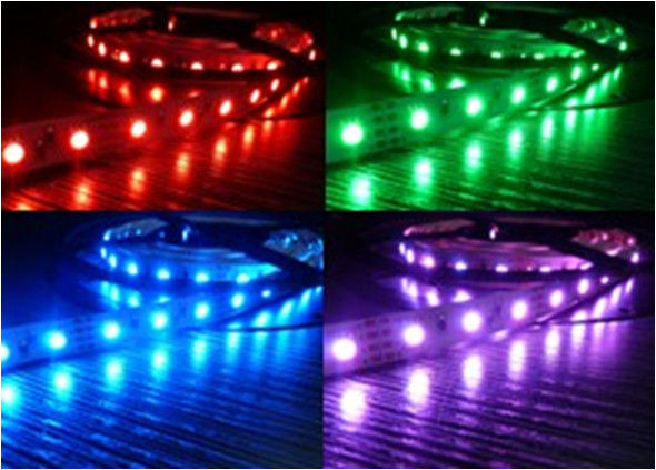 Flexible 5050 RGB LED Module Strips IP65 Waterproof 12V - 24V