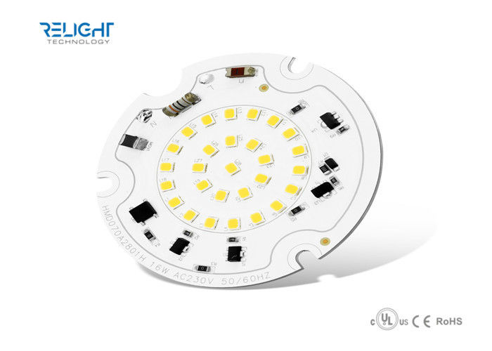 Dimmable Integrated Driverless 16W SMD2835 Round LED Module AC100V - 230V 50Hz / 60Hz आपूर्तिकर्ता